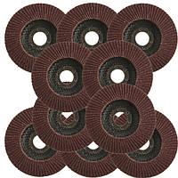 10шт полировального круга пленки Угловая шлифовальная машина 115mm лоскут диски автошлифовальные 22.2mm отверстие 40 грит