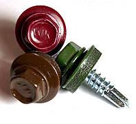 Саморез кровельный по металлу c шайбой epdm 4,8х19 мм. RAL 6020, Wkret-Met