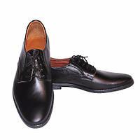 """Мужские кожаные туфли черного цвета на шнуровке от производителя ТМ """"Maestro"""", фото 1"""