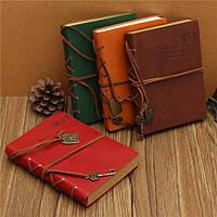 Ретро старинные глубокий цвет искусственная кожа пустые страницы журнала ноутбук дневник