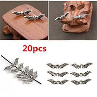 20шт серебро ангел волшебные крылья очарование разделительные бусины ремесла аппаратных
