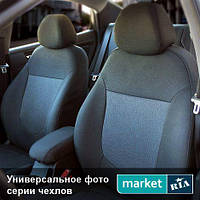 Чехлы для Ford Transit, Черный + Черный цвет, Автоткань