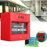 Кнопка аварийного открывания двери разбития стекла пожарной сигнализации для системы контроля доступа