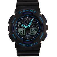 Спортивные часы Casio G-Shock GA-100  Black-Blue