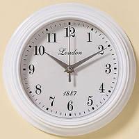 Белые полистоун настенные часы
