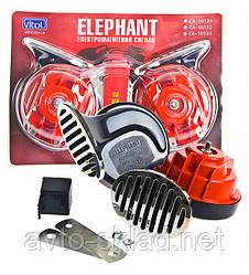 """Звуковий сигнал Vitol Elephant CA-10123 """"Равлик"""" хром"""