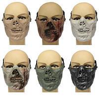 Зомби черепа скелета маски пол-лица военного охота Хэллоуин костюм партия