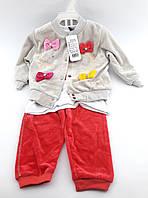 + Детский костюмчик троечка для новорожденных 3-6, 9-12, 18-24 месяцев Турция