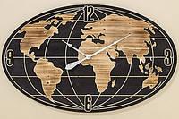 Черные настенные часы Worldwideу