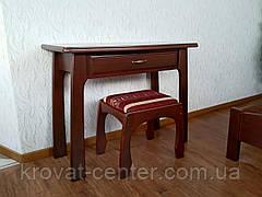 """Консоль """"Для королевы"""" (столик, пуфик, зеркало). Массив - сосна, ольха, береза, дуб., фото 2"""
