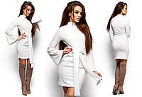 Теплое платье Диор из трикотаж-ангоры (42-48 в расцветках)