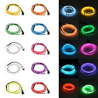 1M 10 цветов 3V Flexible Neon EL Провод Light Dance Party Decor Light Батарея Контроллер питания