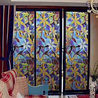 Статические оконные пленки 3 метра Orchid ПВХ Пленки оконные Таблички Non-клей Fork Art Glass ванной