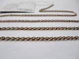 Золотая цепочка Б/У плетение ЖГУТИК - 6.09 г. 52 см. Золото 585 пробы, фото 3