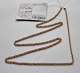 Золотая цепочка Б/У плетение ЖГУТИК - 6.09 г. 52 см. Золото 585 пробы, фото 10