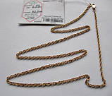 Золотая цепочка Б/У плетение ЖГУТИК - 6.09 г. 52 см. Золото 585 пробы, фото 9