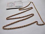 Золотая цепочка Б/У плетение ЖГУТИК - 6.09 г. 52 см. Золото 585 пробы, фото 8