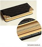 Клатч жіночий гаманець лаковий (персиковий), фото 4