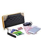 Клатч жіночий гаманець лаковий (персиковий), фото 5