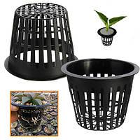 10шт черный пластик гидропоники посадки сетка чистая горшок корзины садовое растение расти чашку