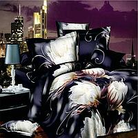 4pcs костюм полиэфирного волокна 3d Эпифиллум реактивной крашения Постельные наборы Королева Кинг-сайз