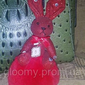 Брелок - кролик, натуральный мех