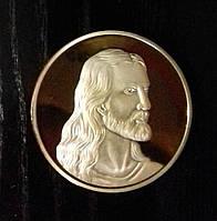 Сувенирная монета Тайная вечеря ужин Иисус цвет золото
