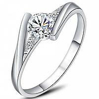 Нежное лаконичное кольцо под серебро р 17,5