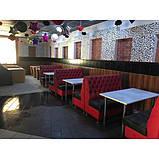 Диван для кафе и ресторана трехместный ЛЮДВИГ. Мягкая мебель для кафе и ресторанов, фото 6