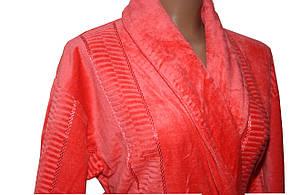 Женский халат длинный без капюшона Imray Salyaka терракот, фото 2