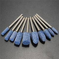 10шт 1/8 дюймов Шейн синий Абразивный каменный ротор Инструмент Шлифовальный круг для Дремель