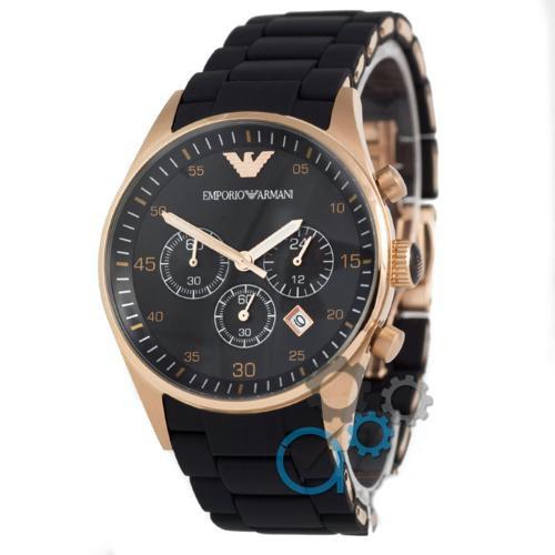 Часы Emporio Armani AAA AR5905 Black-Gold-Black Silicone реплика - Магазин  подарков Часики ffcd11d3ff4