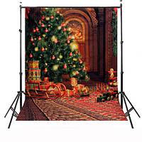 1.5x2.1m рождественские темы водонепроницаемый стерео фотостудия фон