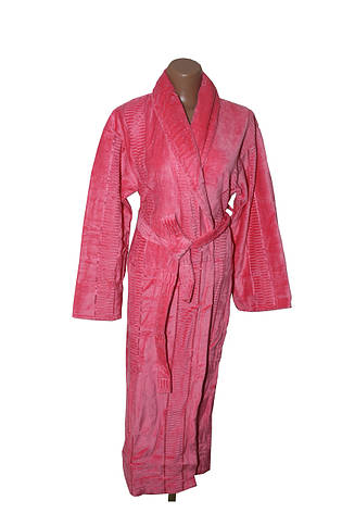 Женский халат длинный без капюшона Imray Salyaka розовый, фото 2