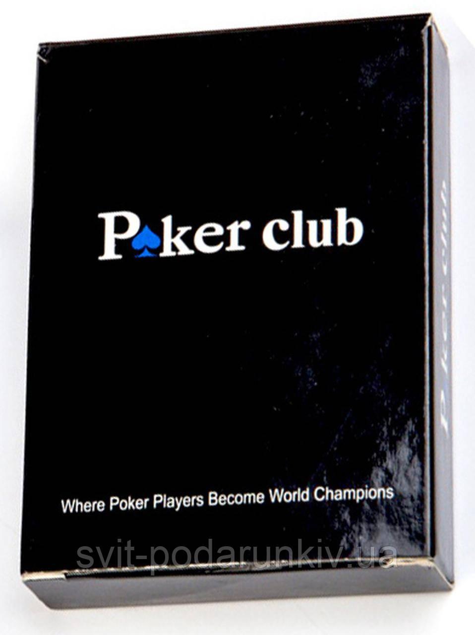 Пластиковые карты игральные Покерный клуб AS195-1