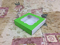 Коробка для пряников / 120х120х30 мм / печать-Салат / окно-обычн, фото 1