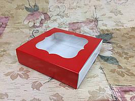 Коробка для пряников / 120х120х30 мм / Печать-Красн / окно-обычн