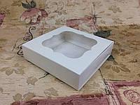 Коробка для пряников / 120х120х30 мм / Молочн / окно-обычн, фото 1