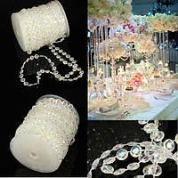 30m свадьбы занавес алмаз радужные акриловые бусины прядь хрустальные партия декор