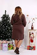 Женское платье с карманами 0678 / размер 42-74 цвет коричневый, фото 4
