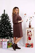 Женское платье с карманами 0678 / размер 42-74 цвет коричневый, фото 2