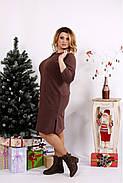 Женское платье с карманами 0678 / размер 42-74 цвет коричневый, фото 3