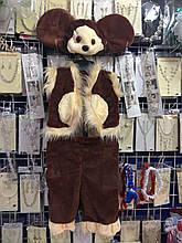 Новогодний костюм Чебурашки на рост от 98 до 116 см, 390