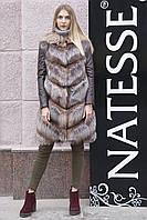"""Шуба меховое пальто из чернобурки """"Азиза"""" silver fox fur coat jacket, фото 1"""