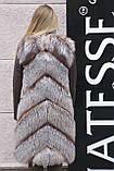 """Шуба меховое пальто из чернобурки """"Азиза"""" silver fox fur coat jacket, фото 3"""