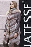 """Шуба меховое пальто из чернобурки """"Азиза"""" silver fox fur coat jacket, фото 4"""