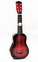 Деревянная гитара, настройка струн + медиатр, фото 1