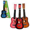 Детская гитара M1369, деревянная, 6 струн, медиатор, настройка струн. Музыкальные инструменты для детей