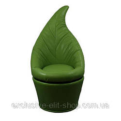 Банкетка-листик зелёное
