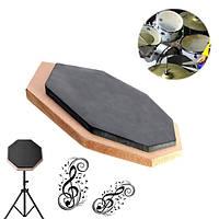 6-дюймовый немой площадку упражнения мат удар пластины резиновые барабанщик двухсторонняя мягкая черная